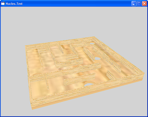 Screenshot of a maze board with smeary textures und no lighting