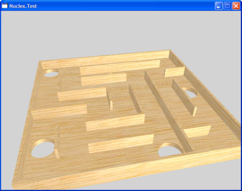 Screenshot of a maze board rendered with textures and lighting