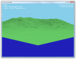 Screenshot of untextured terrain with lighting via phong shader