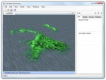 Screenshot of an editor window with tool bars and a terrain rendered in the view area