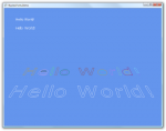 "Image of the text ""hello world"" rendered as outlines, which each line a different color"