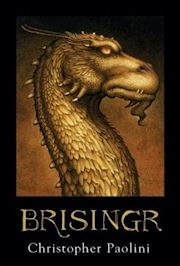 Scan of the book cover of Brisingr