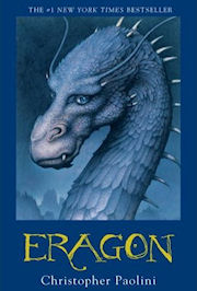 Scan of the book cover of Eragon
