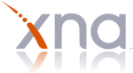 The logo of Microsoft's XNA platform, a framework for writing games in .NET