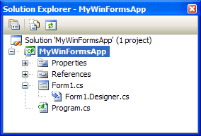 Image showing how a designer file appears as a sub-element of its related form file