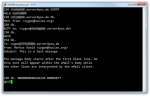 Using PuTTY to deliver an Email to an SMTP server