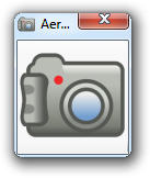 Screen capture of a small window showing a clip art of a digital camera