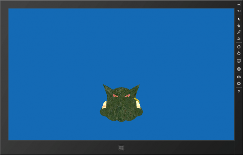 Screenshot of Ogre 1.8.0 on Windows 8 Release Preview running as a Metro app