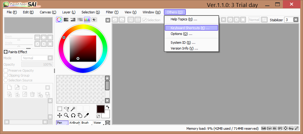 Paint Tool Sai Size Canvas Comic Panels