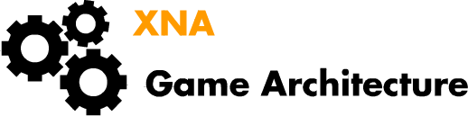 Logo of the XNA Game Game Architecture tutorial series, three interlocked gears