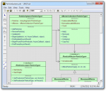 A UML diagram being edited in UML Sculptor
